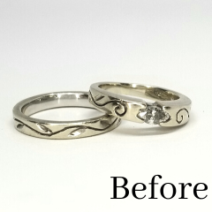 after divorced wedding rings turned into a necklace