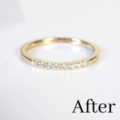 minimalist diamond ring made from recycled gold
