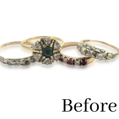 heirloom jewelry transformed into engagement ring