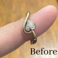 old yellow gold ring recycled into new design
