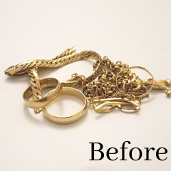 recycled gold scrap jewelry