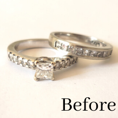 princess cut engagement ring redesigned into new