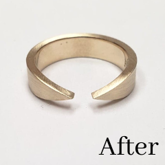 open band ring made from redesigned gold