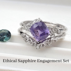 custom ethical sapphire engagement ring