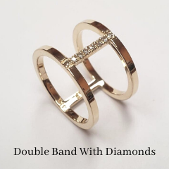 double diamond band custom made ring online