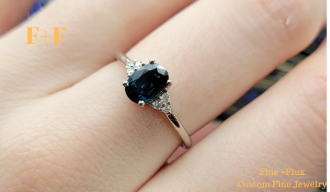 custom sapphire ring with ashes inside memorial jewelry