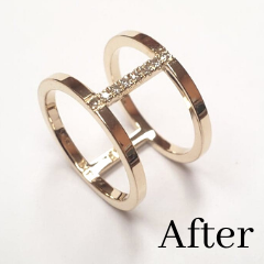 double band ring made by using old gold