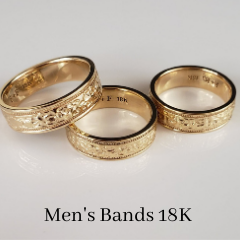 mens custom wedding band 18ky