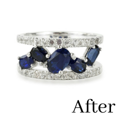 sapphire ring redesigned