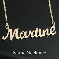 Gold name necklace custom pendant