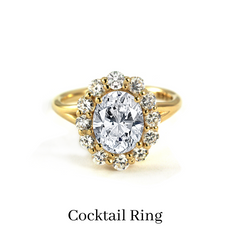 custom oval cocktail ring