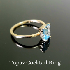 custom topaz cocktail ring yellow gold