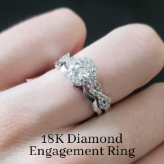 bespoke halo engagement ring diamond