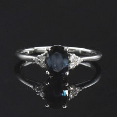 custom cremation ring with ashes blue sapphire ring
