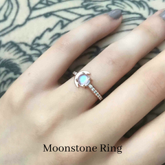 custom moonstone ring engagement ring