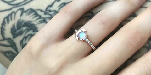 sailor moon moonstone engagement ring