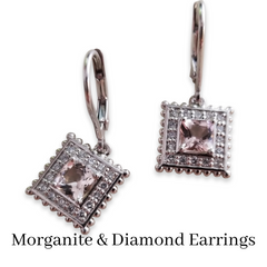 custom morganite earrings