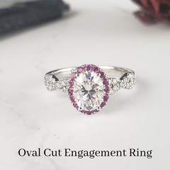 oval engagement ring with halo custom