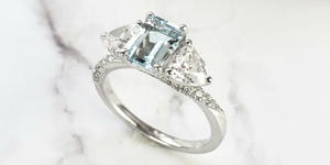 Custom engagement rings and wedding band