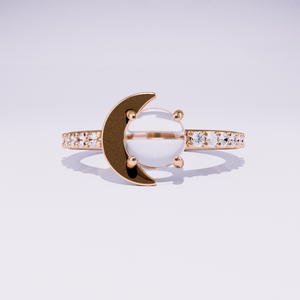 sailor moon ring in rose gold