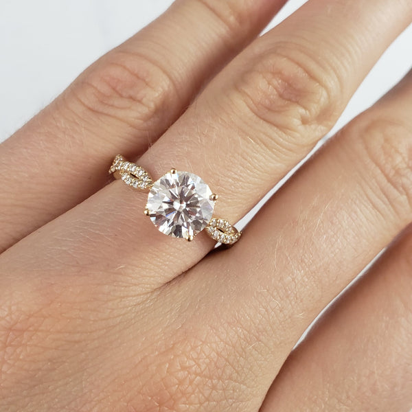 engagement ring with twisted band