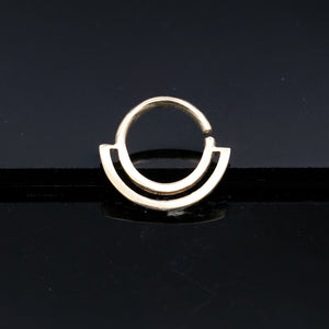 Simple gold septum ring