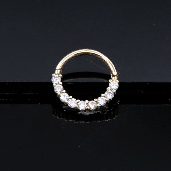 diamond septum clicker in gold