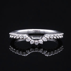 diamond chevron wedding band