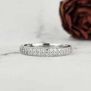 2 row diamond wedding ring