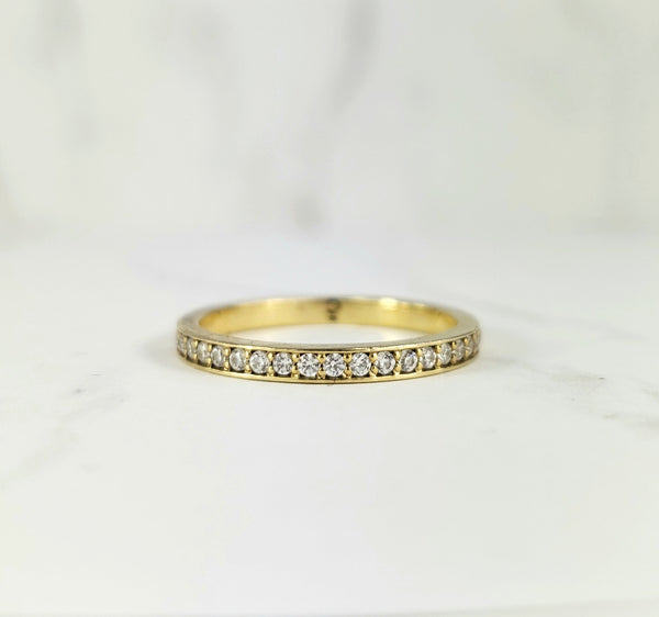 gold stackable with diamondds