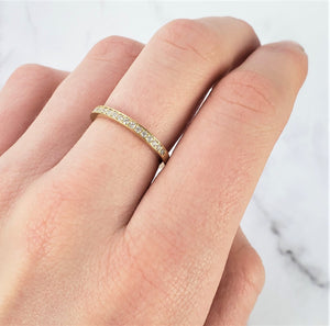wedding band with diamonds channel setting