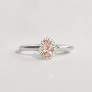 morganite and sapphire ring