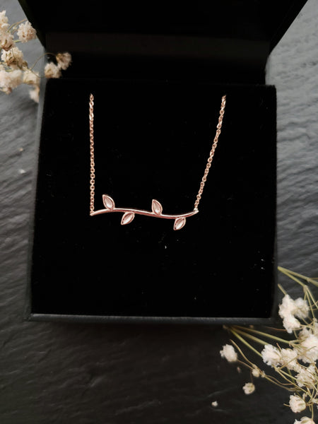 rose gold vine pendant