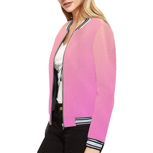 Angel care Design 1 Women's All Over Print Horizontal Stripes Jacket