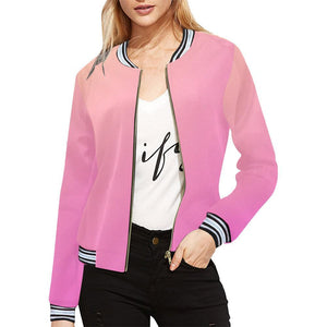 Angel care Design 1 Women's All Over Print Horizontal Stripes Jacket-Jackets-JEFAMO