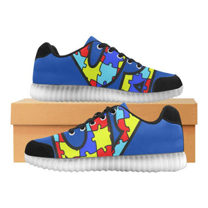 Autism Design 16 Light Up Casual Men's Shoes-Light Up Shoes-JEFAMO