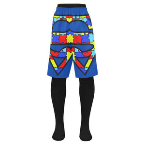 Autism Design 16 Men's Swim Trunk-Swimwear-JEFAMO