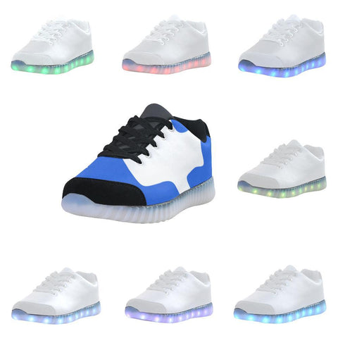 Autism Design 31 Light Up Casual Men's Shoes-Light Up Shoes-JEFAMO