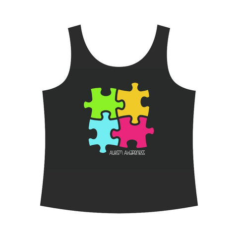 Autism Design 9 Women's All Over Print Tank Top-Tank Tops-JEFAMO