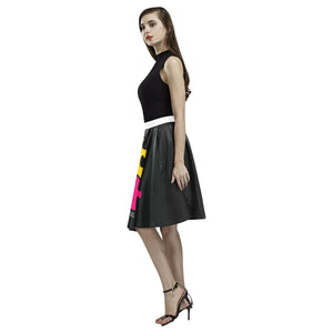 Autism Design 9 Women's Pleated Midi Skirt