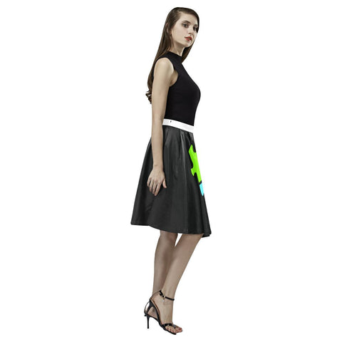 Autism Design 9 Women's Pleated Midi Skirt-Skirts-JEFAMO