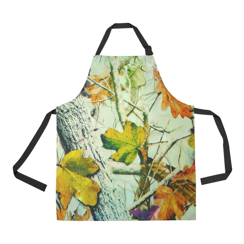 Autumn Wet Leaf All Over Print Adjustable Apron-Aprons-JEFAMO