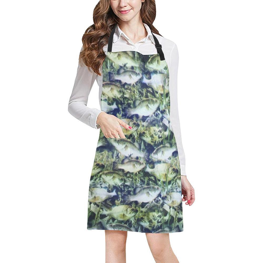 Bass Design 1 All Over Print Adjustable Apron-Aprons-JEFAMO