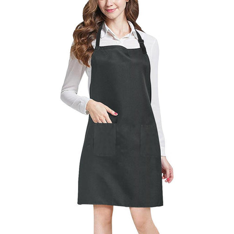 Black Design 1 All Over Print Adjustable Apron-Aprons-JEFAMO