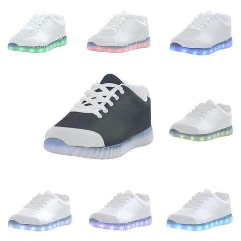 Black Design 1 Light Up Casual Women's Shoes-Light Up Shoes-JEFAMO