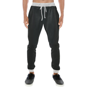 Black Design 1 Men's All Over Print Casual Jogger Pants-Pants-JEFAMO