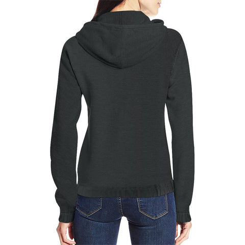 Image of Black Design 1 Women's All Over Print Full Zip Hoodie-Hoodies-JEFAMO