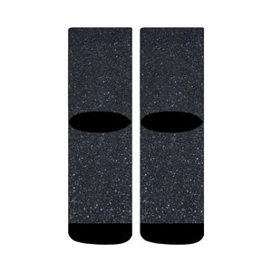Black Glitter Crew Socks