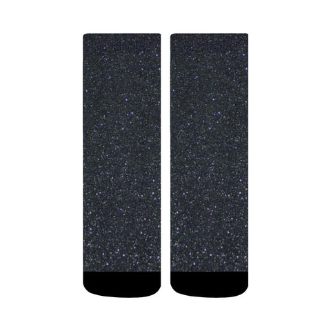 Image of Black Glitter Crew Socks-Socks-JEFAMO