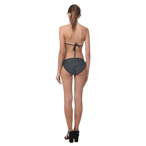 Image of Black Glitter Custom Bikini Swimsuit-Swimwear-JEFAMO
